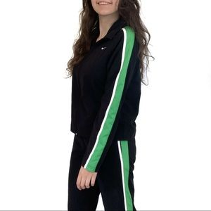 Nike Black and Green Track Set